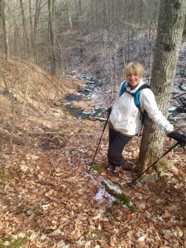 Sonja hiking in 2016.