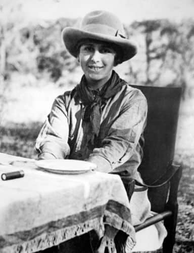 Karen Blixen on safari in Kenya in the 1930s.