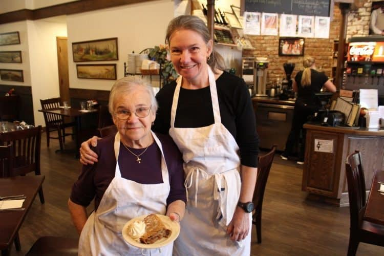 Mama Matilda with daughter at Novak's Oregon's only Hungarian restaurant, Albany.