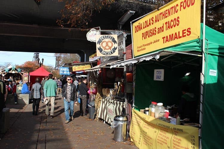 Portland Saturday market food row