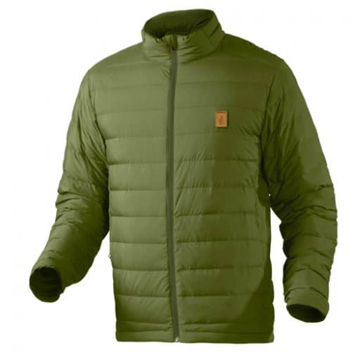 Trew men's shirtweight down jacket. LIghtweight and smooth, and no obnoxious front chest branding.