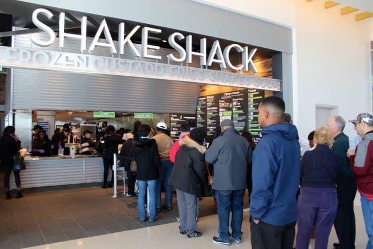 Long line at the Shake Shack