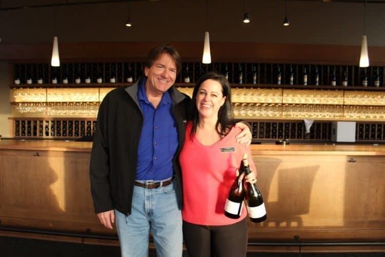 Jim and Wendy in Willamette Valley Vineyards tasting room