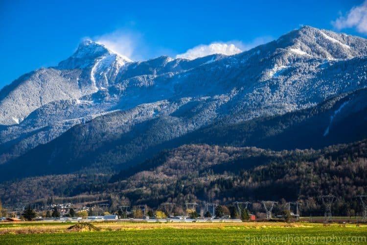 Winter Wind on Mount Cheam, Fraser Valley BC.