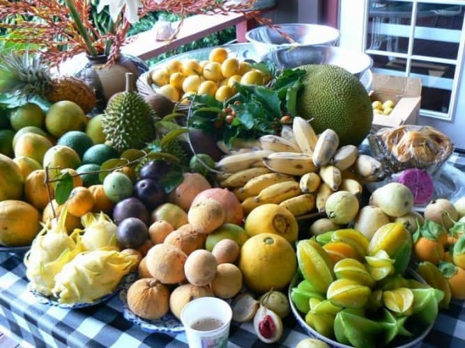 Ono farms just outside of Hana, offers their own bounty of Maui-grown fruits and vegetables.