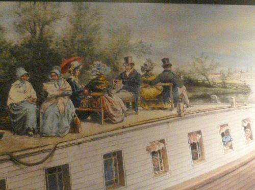 Boating on the Erie Canal, back in the day.