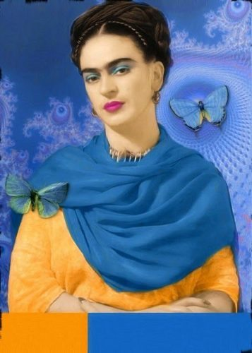 Frida in blue, her favorite color.