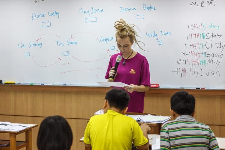 The work isn't hard and you only need a TEFL certificate, if that, to teach English in Taiwan.