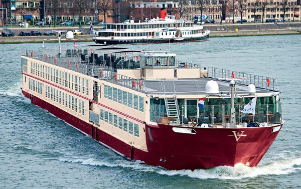 The River Venture, one of the many river cruise ships that have single occupancy cabins, operated by Vantage Travel.
