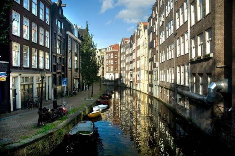 A canal in Amsterdam, Netherlands. David Greitzer photos.
