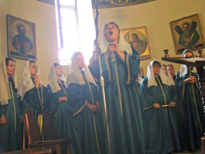 Angelic voices fill Armenia's Etchmiadzin Cathedral (built 301-303). Bruce Northam photos.