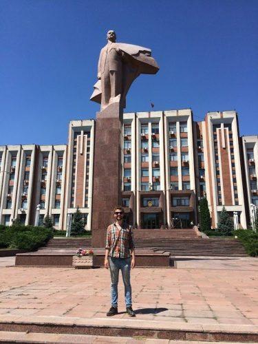 Lenin in Transnistria.
