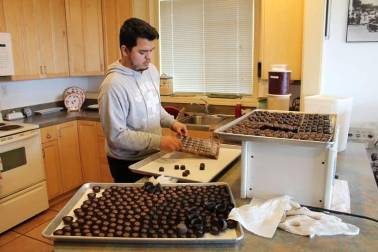 Cherry Country chocolate making, Albany Oregon