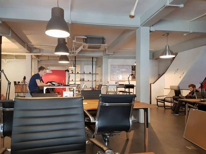 A co-working space called The Work Loft. Perfect for locals and expats in Bangkok, Thailand.