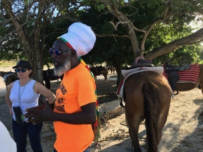 Sun Fire has a stable of horses who know the way to the beach!