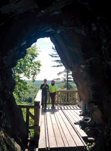A natural arch in Mass City Michigan.