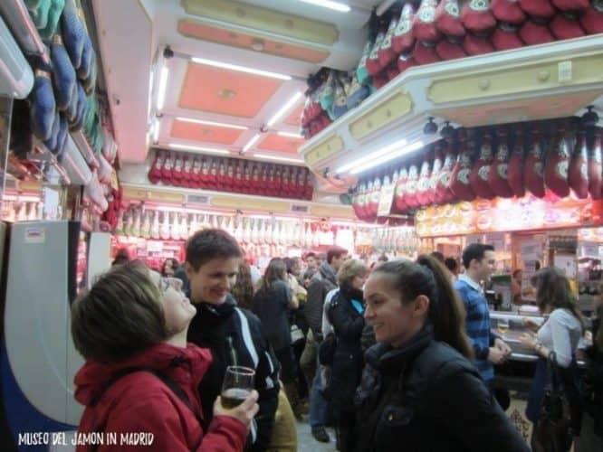 Enjoying Spanish wines at the Museo de Jambon in Madrid. Zeljka Rajic photos.