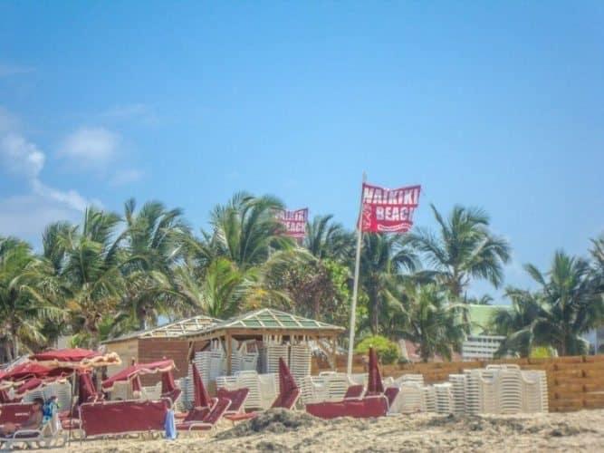 Waikiki Beach in St Martin, Caribbean.