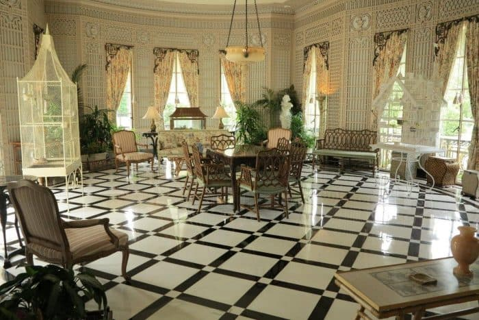 A perfect spot for tea at the Nemours mansion in Brandywine. Tab Houser photo.