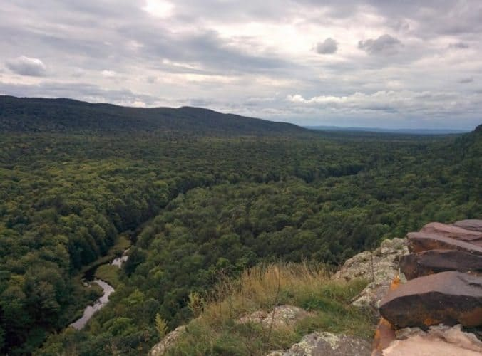 The vast expanses of Porcupine Mountains in MIchigan's Upper Peninsula. Elina Salmiinen photos.