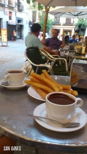 Coffee at San Gines, Madrid.