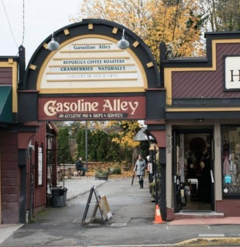 Gasoline Alley for coffee, chocolate and art in Fraser Valley.