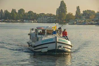 Barging in Holland