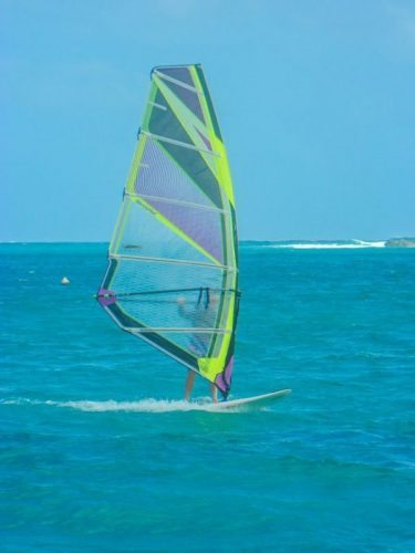 Windsurfing is an option for those who have a little more energy at Orient.