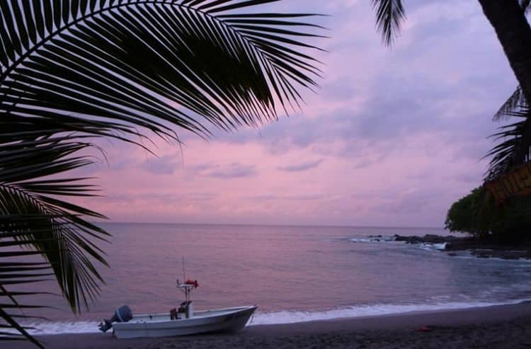 Sunsets in Montezuma are spectacular, but the best view is overlooking the beach from Hotel Lys' common area.