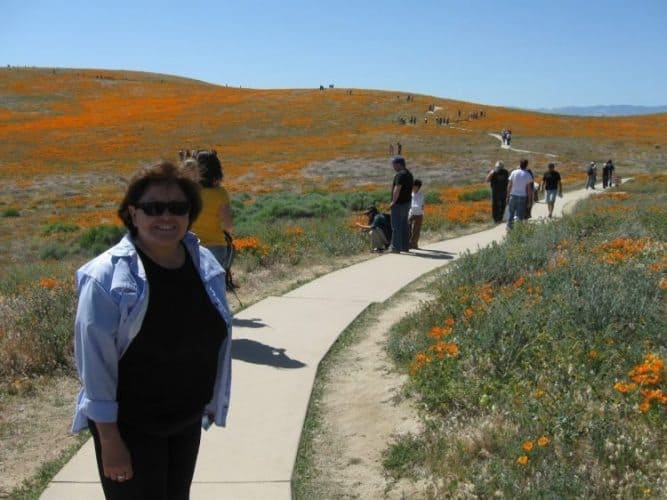 Walking the Poppy Trail at the Antelope Valley Poppy Preserve in Southern California. James Dorsey photos.