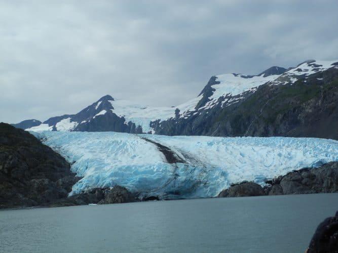 A View of the spectacular Portage Glacier, near Anchorage, Alaska.