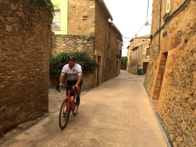 The Girona province is favored by international bicyclists, including Doug Schnitzspahn