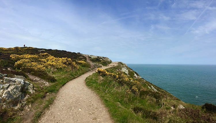 The View From the Cliff Walk in Howth, Ireland on a Sunny Day