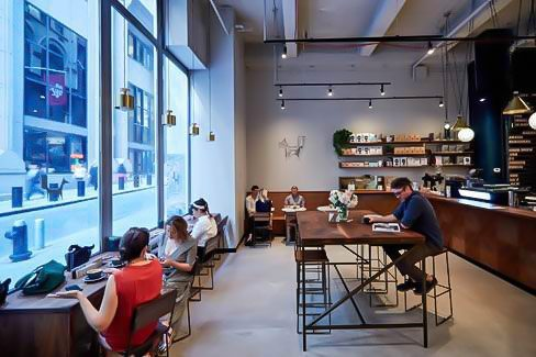 At Black Fox Coffee guests can enjoy gourmet coffee and breakfast in the same building.
