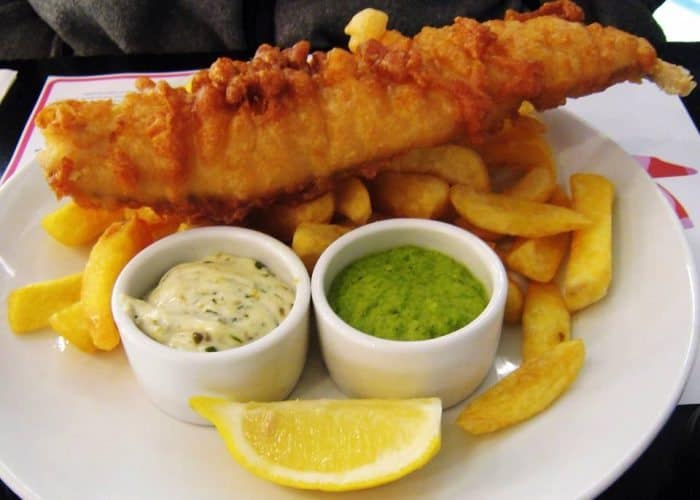 Fish and chips in Howth is a must! Try it with mashed peas and homemade tartar sauce.