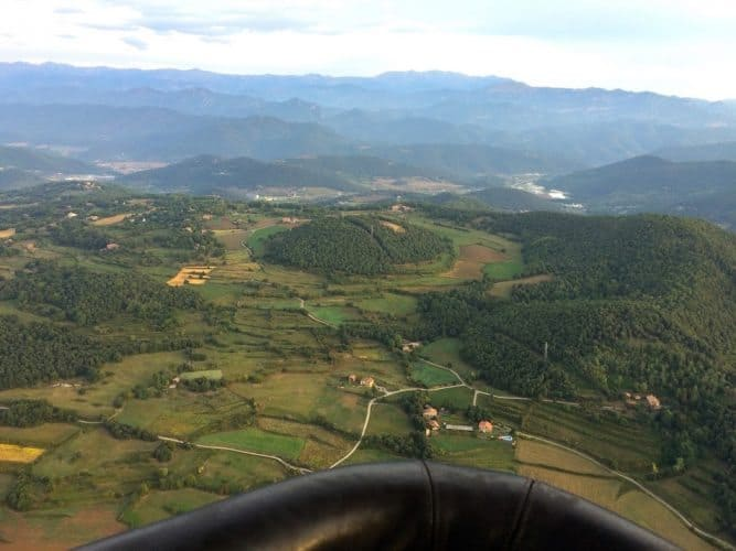 Santa Margarida Volcano, located in the Garrotxa Volcanic Zone Natural Park / Carquinyol