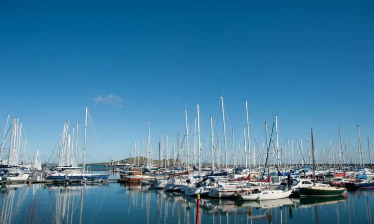Howth Harbor is home to countless sailboats and fishing charters