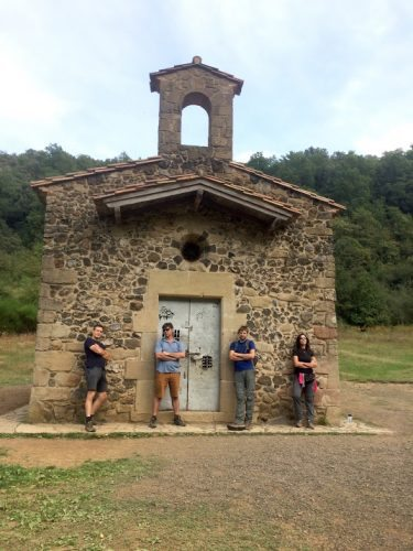 A Roman hermitage built of stone lies at the center of the Margarita Volcano – and it's locked. So we of course posed in front.
