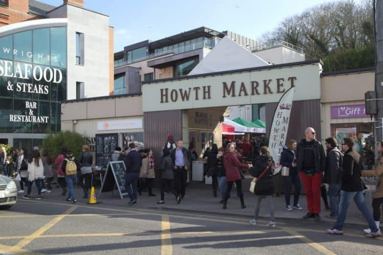 Howth market place is busiest on Sunday afternoons.