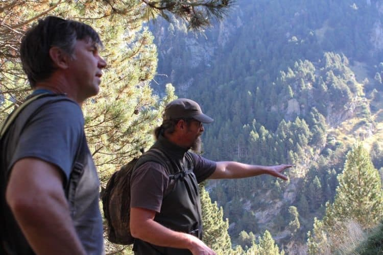 Hiking along the Itinerànnia, the network of 1,500-plus miles of trails that runs through eight counties. Pictured: Doug Schnitzspahn with guide R. Daniel Foster photos