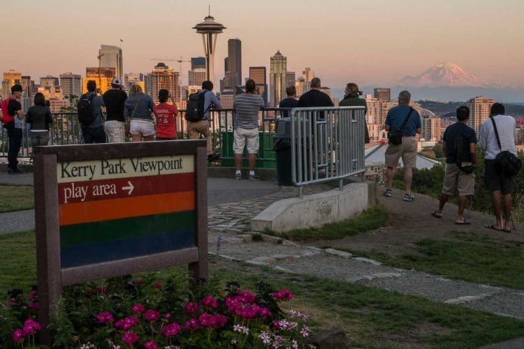 Kerry Park offers some of the best views of beautiful Seattle, Washington.