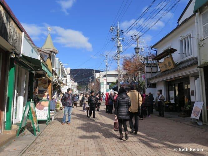 Kyu-Karuizawa Ginza shopping street, following John Lennon Japan. Beth Reiber photos.