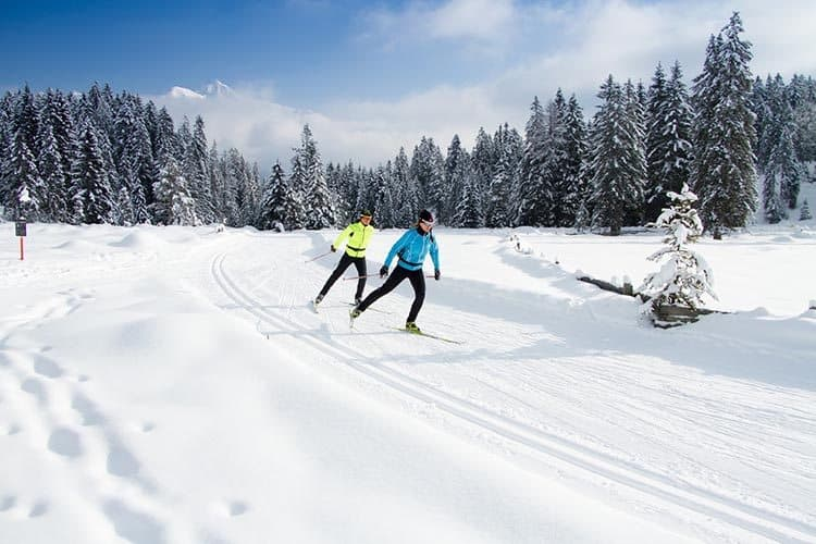 Olympiaregion Seefeld offers 279k of cross-country trails - classic or skating.