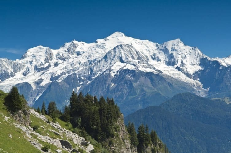 "Mount Blanc, which Arlan describes, is known as the ""the roof of Europe""."