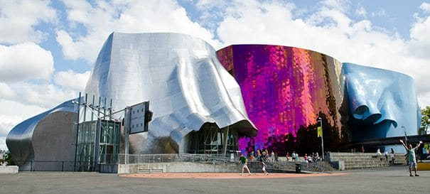 The Museum of Pop Culture in Seattle is striking, it looks like no other museum.