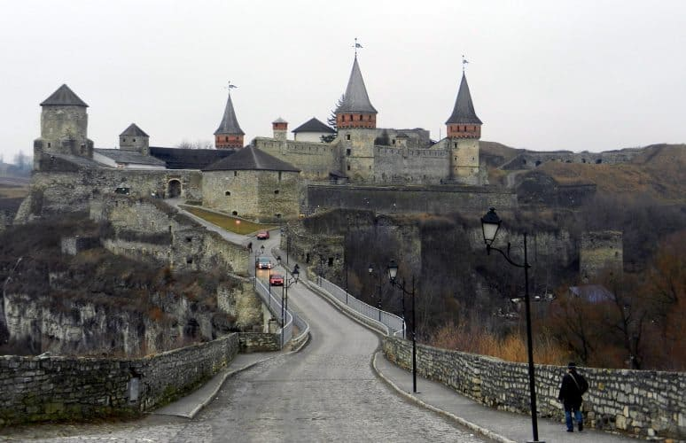 The Castle of Kamyanets-Podilsky in Chernivtsi Ukraine