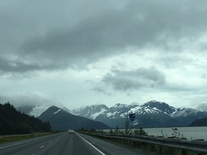 On way to Portage Glacier by Seward Highway