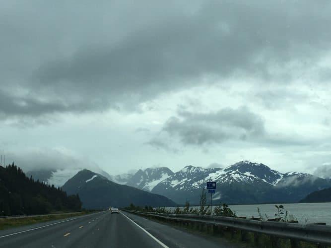 On way to Portage Glacier by Seward Highway