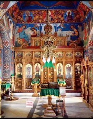 An ornate church in Orheihul Vechi, Moldova.