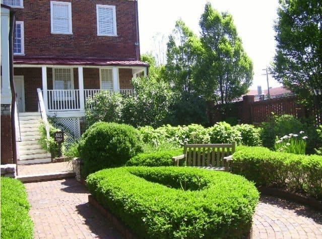 Mary Todd Lincoln's garden at her family home in Lexington, Kentucky.